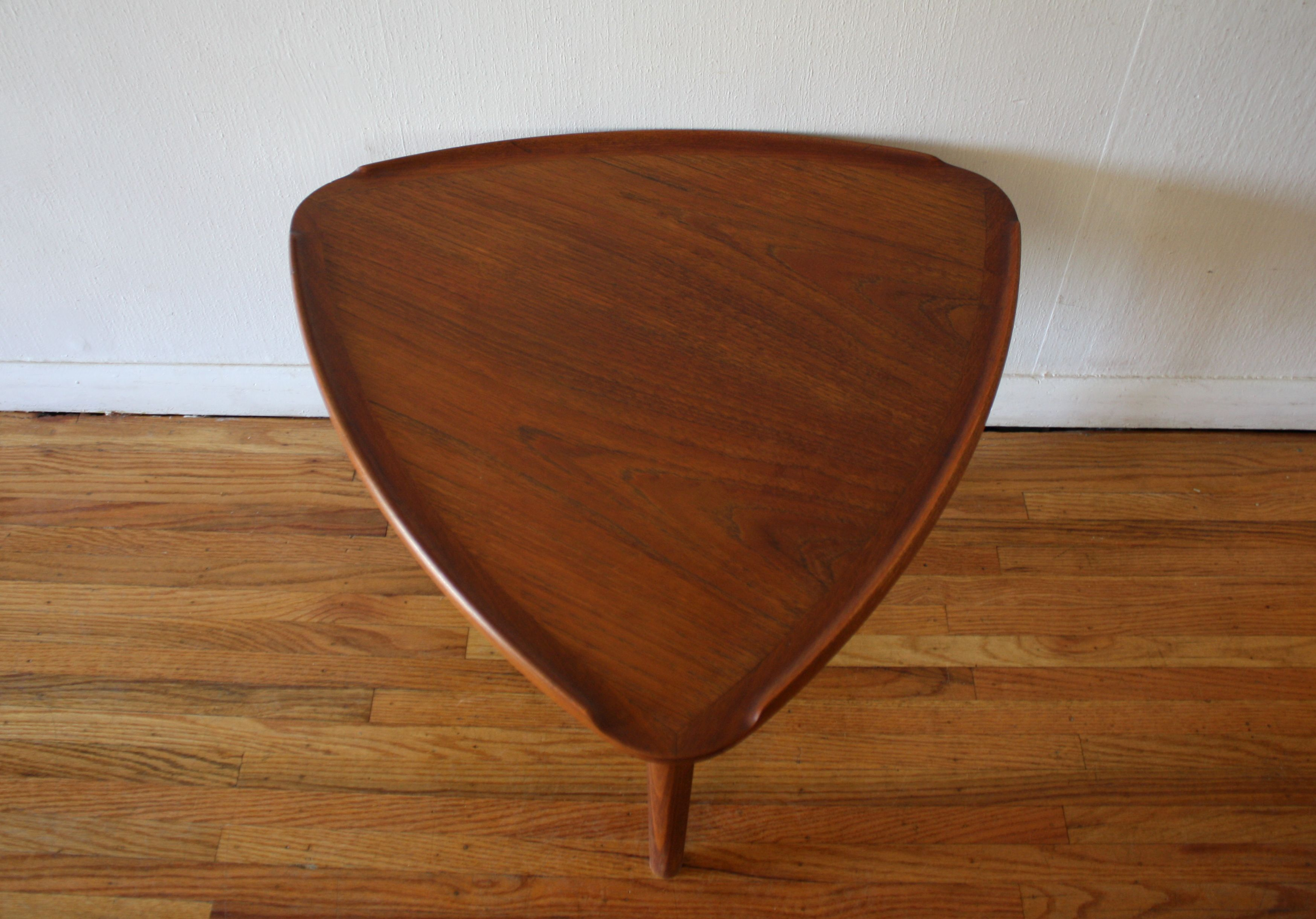 Mid century modern danish guitar pick side table with surfboard mid century modern teak side tables teak wood tables complement houses of many sizes and function in various ways the the highest quality of teak tables geotapseo Image collections