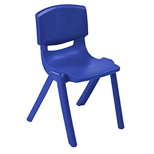 Polypropylene Classroom Stackable Chair Seat Color Blue Seat