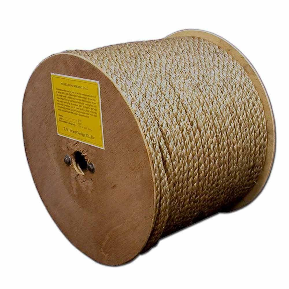 T W Evans Cordage 5 8 In X 600 Ft Premium Manila Rope Browns Tans Manila Rope Pure Products Manila