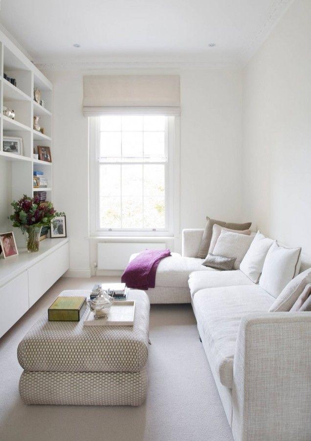 Mini~Salón en blanco, más luminoso. | Decoración practica ...