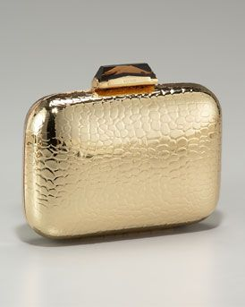 a4413be52c7 Kotur Morley Croc-Embossed Box Clutch in Gold | CLUTCHES | Designer ...