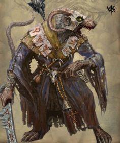Warhmmer Fantasy Battle Vicious Skaven Clan Rat Fantasy Races