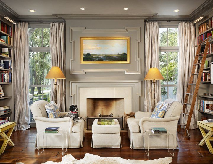 Dillon Kyle Architecture Gorgeous Gray Library Den Design With Walls Paint Color