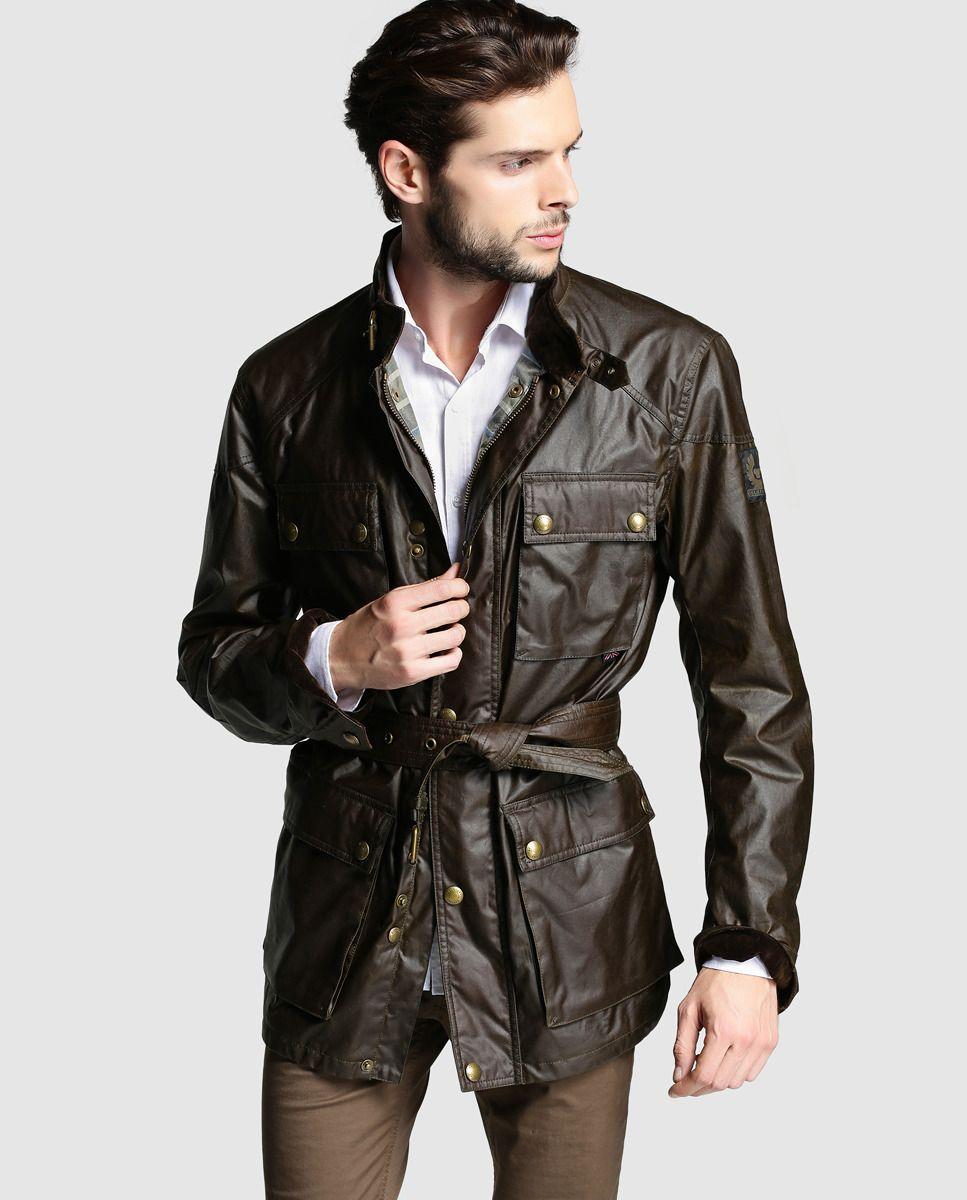 mitad de descuento Venta caliente 2019 en venta Chaqueta de abrigo de hombre Belstaff marrón con cuatro ...