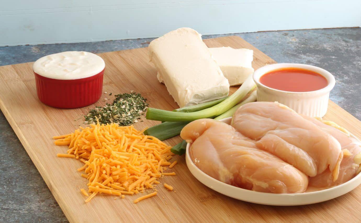 Skinny Buffalo Chicken Dip Crock Pot Recipe: Keto & Low Carb Appetizer