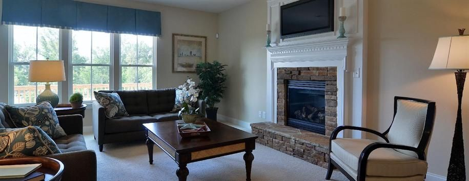 living room idea chocolate brown and blue with beige
