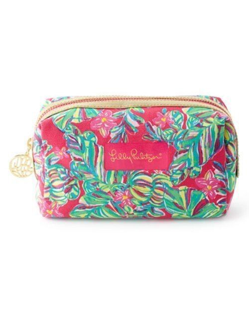a13c65eb3a15 LILLY PULITZER Palm Beach JUNGLE TUMBLE Pomegranate Pink Cosmetic Case Bag  NWT  LillyPulitzer  CosmeticBags