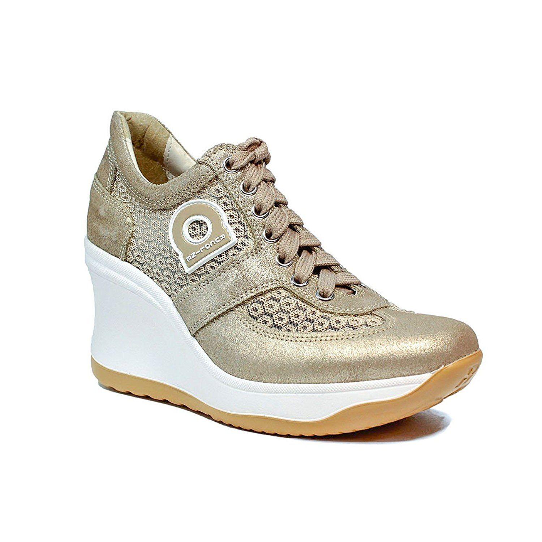 Chaussures De Sport Haut Fergie 2 Beige / Bronze / Ros Bugatti m7MIS