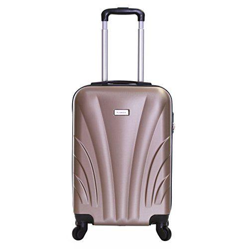 slimbridge ferro 55cm dur 4 roues valise cabine champagn. Black Bedroom Furniture Sets. Home Design Ideas