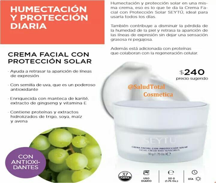 Crema Facial Con Proteccion Solar Cuida E Hidrata Tu Rostro