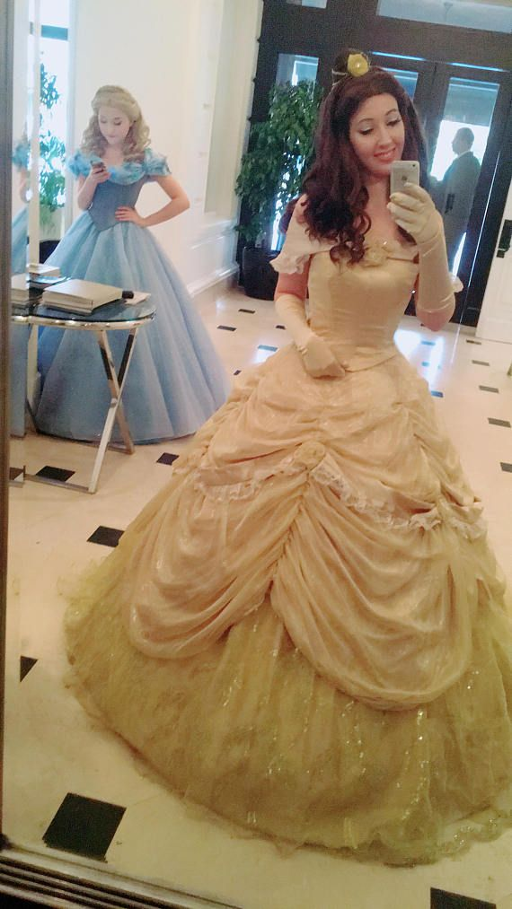 Belle Redesign Disneyland Handmade Disney Cosplay Gown Dress ...