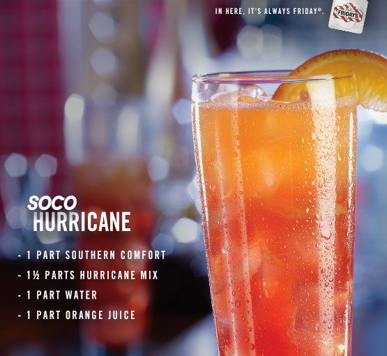 Southern Comfort Our Own Hurricane Mix And Orange Juice With