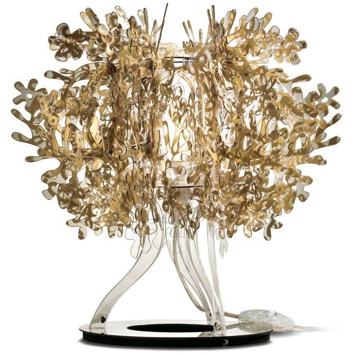 Gold table lamp. £229.99  http://www.lightsworld.co.uk/p/Slamp_Fiorellina_Gold_Table_Lamp.htm