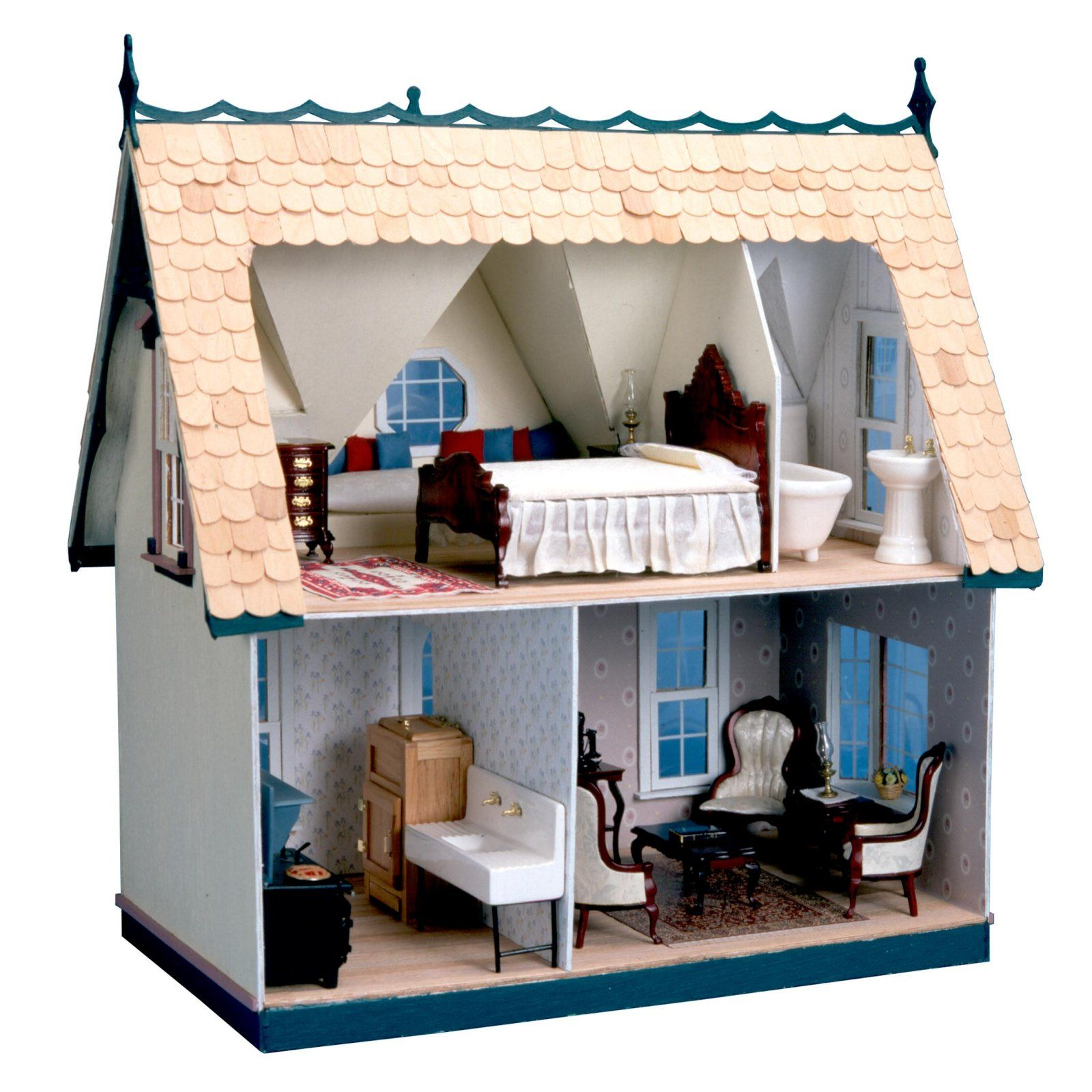 Greenleaf Orchid Dollhouse Kit   1 Inch Scale   Collector Dollhouse Kits At Doll  Houses Galore