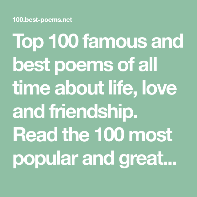 Most famous love poems ever written