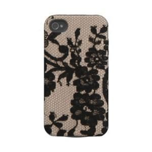 Girly Chic fashion Lace  flowers photo print Tough Iphone 4 Case