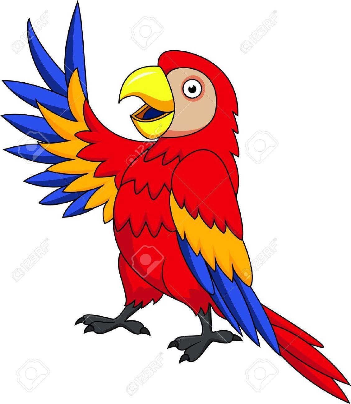 Parrot Cartoon Clip Art