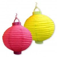 Lighted Paper Lanterns Mix N' Match 10In Lighted Paper Lanterns For Indooroutdoor Use$2