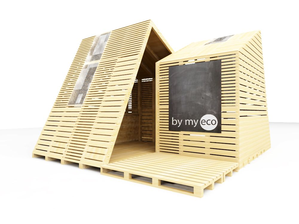 LEMUR + BYMYECO + WOODVIBRATION | THE SUSTAINABLE CONTAINER | EME3_2013 Itinerant educational unit for social action