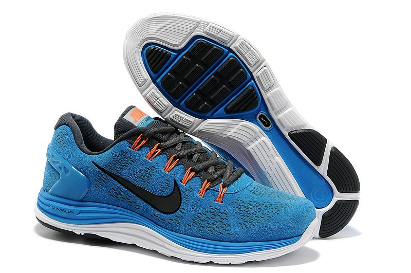 more photos 05479 7235a ... best price mens nike lunarglide 5 suede blue hero black anthracite  total orange shoes 03703 a5a75