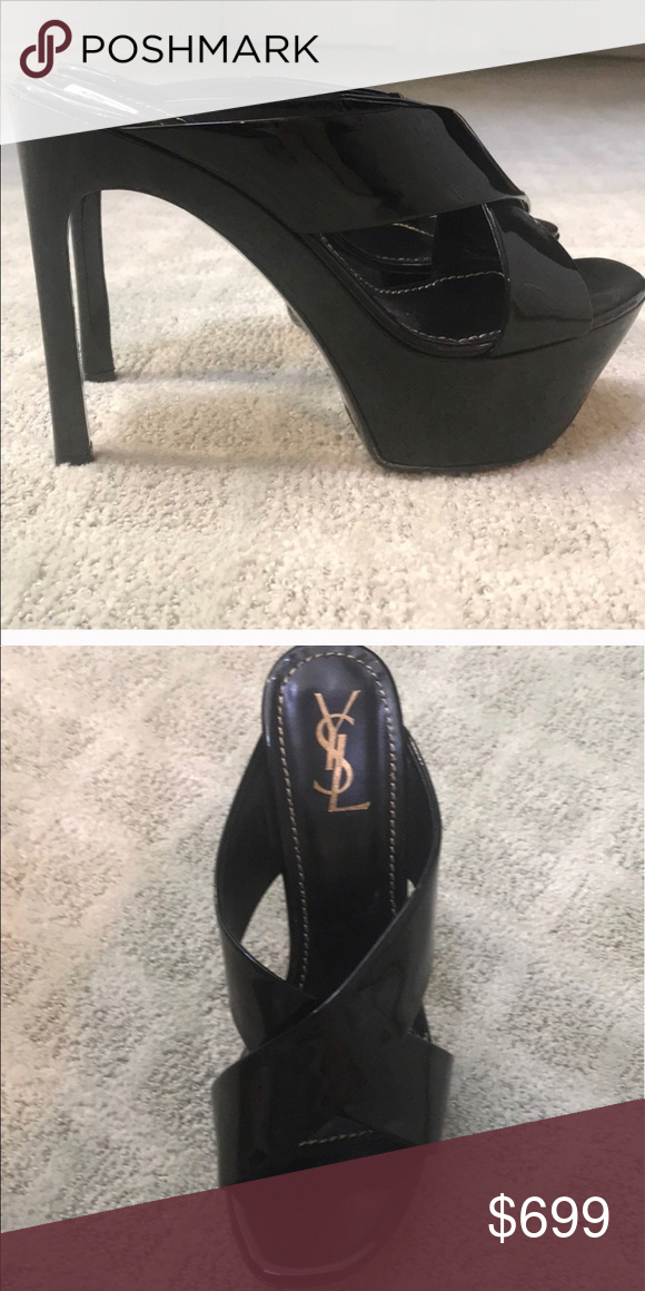 8dd455a07 Spotted while shopping on Poshmark  Yves Saint Laurent YSL Patent Leather  Heels Mules!  poshmark  fashion  shopping  style  Yves Saint Laurent  Shoes    ...