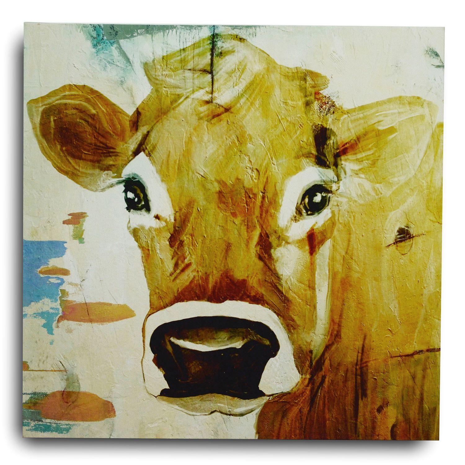 Cow Gaze Print On Canvas | Cow, Canvases and Printing