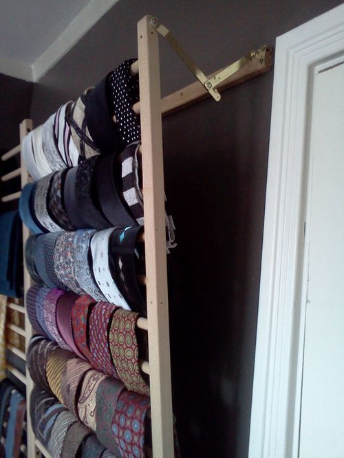 Wall Mounted Tie Rack