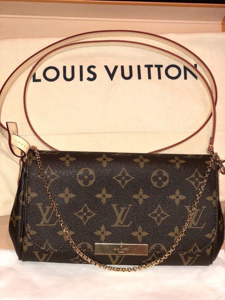 5594e5b1b8c 100% Authentic LOUIS VUITTON Favorite PM Monogram Crossbody Bag Handbag   fashion  clothing  shoes  accessories  womensbagshandbags (ebay link)