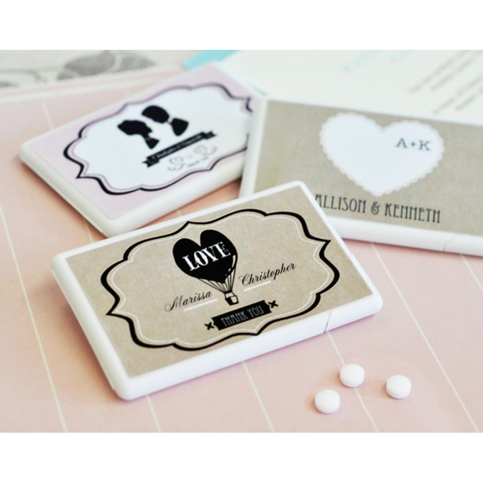 Vintage Collection Personalized Mini Mints Wedding Favors [EB2211WV ...