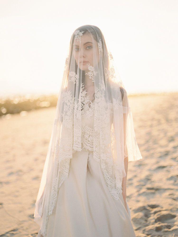 Lace Veil Classic Wedding Photos California Wedding Photographer