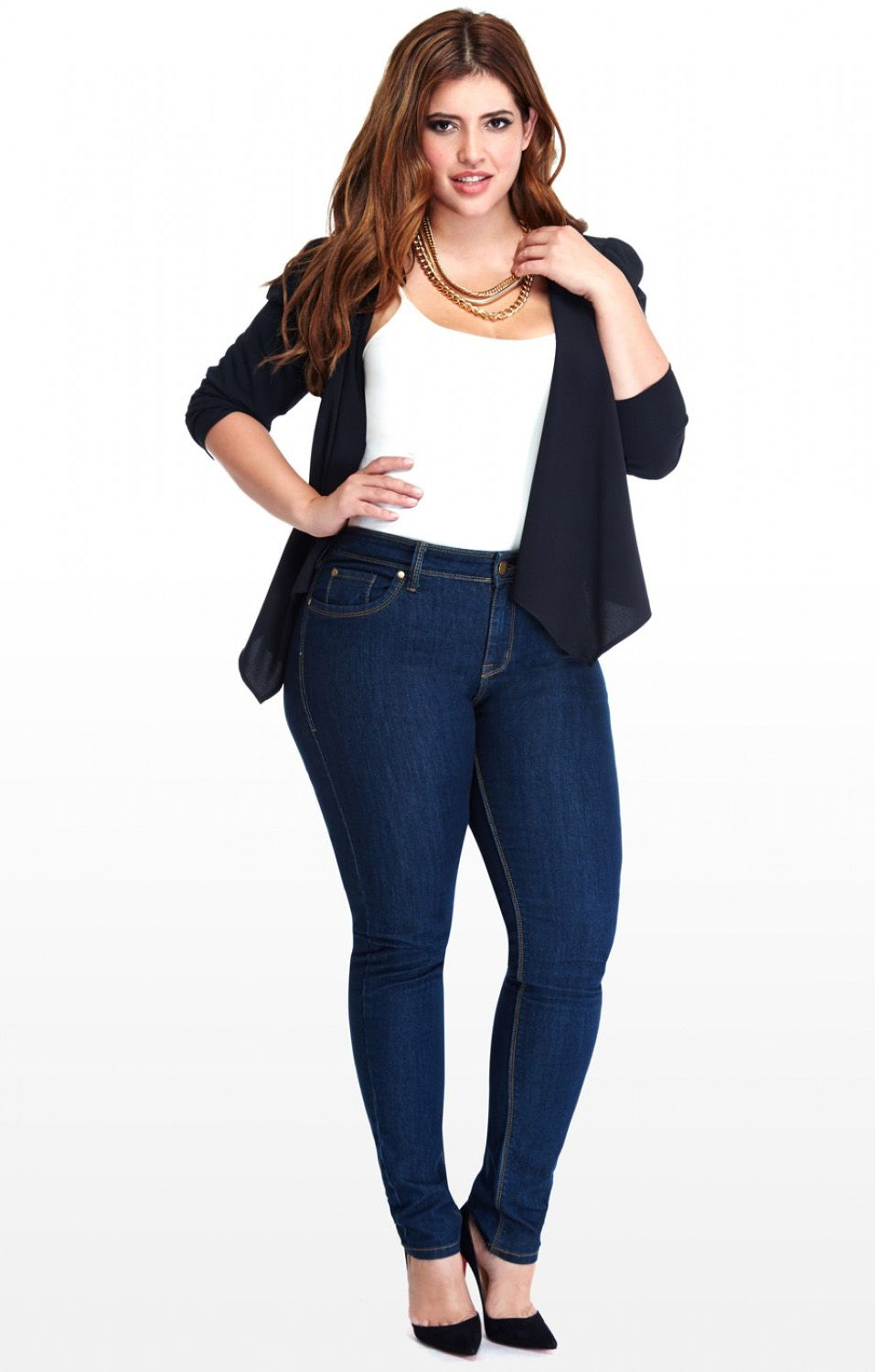 Skinny Jeans On Plus Size - Xtellar Jeans