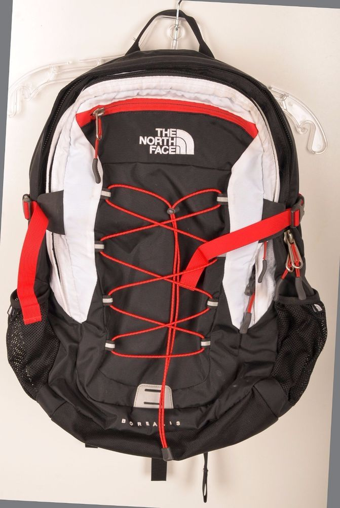 635618f942 The North Face Borealis Black Red White Backpack Travel Pack Hiking Camping  Day #TheNorthFace