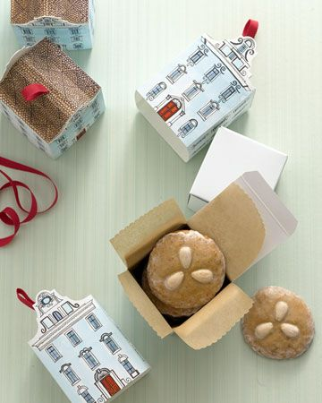 Packaging Ideas for Christmas Cookies Town house, Box and Martha - packaging slips