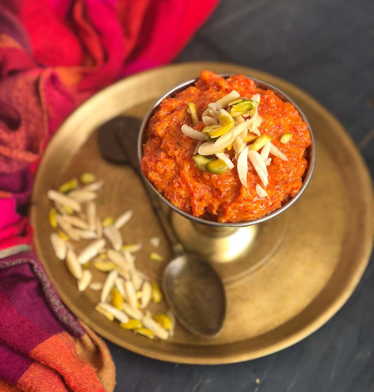 easy gajar halwa recipe with khoya made in a pressure cooker recipe gajar ka halwa food on hebbar s kitchen halwa id=24479