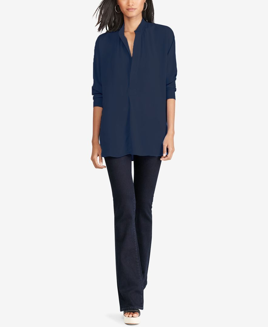 bf046ad292495b Polo Ralph Lauren Silk Georgette Shirt