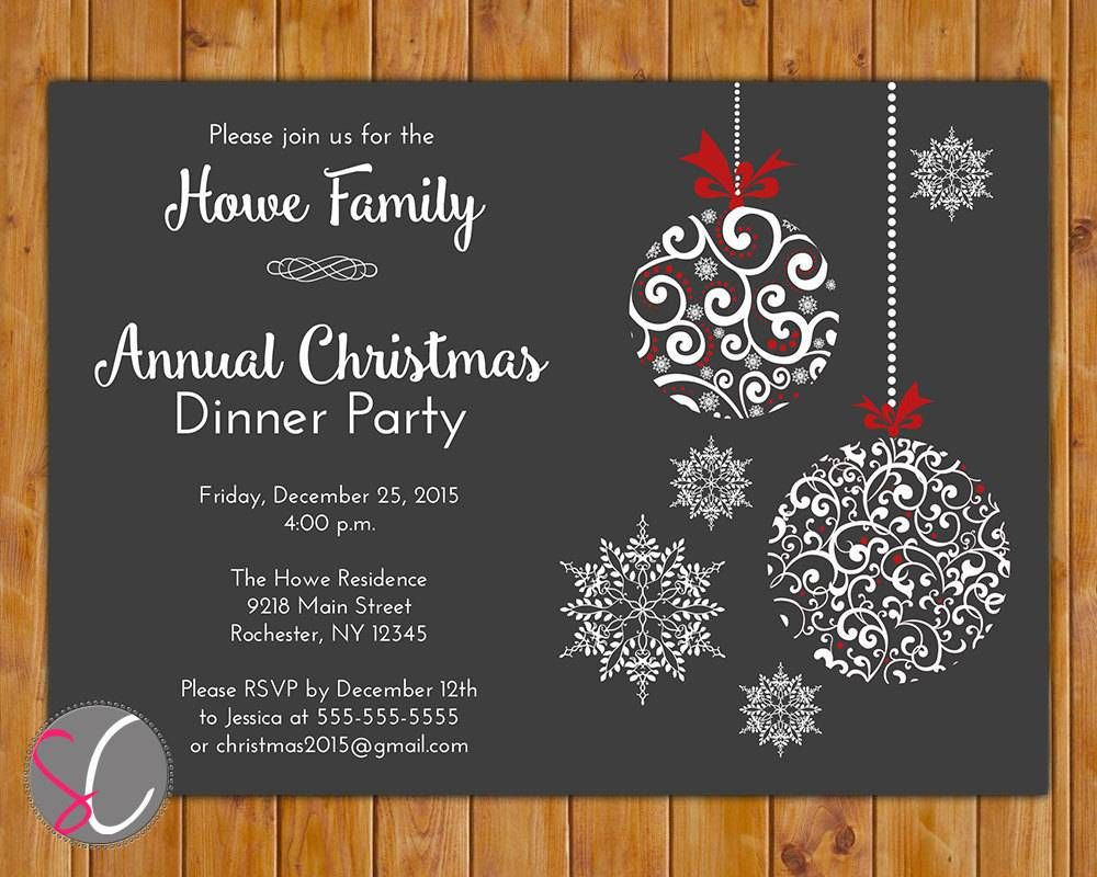 Holiday Party Invitations Free Templates Christmas Crafts