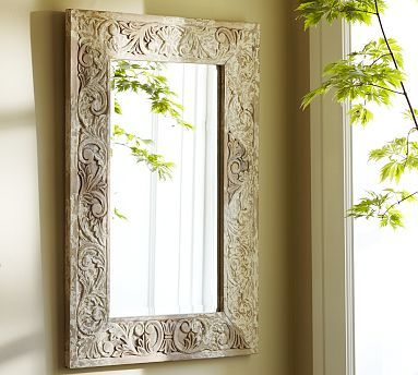 Pottery Barn Mirror, Carved Wood Mirror Pottery Barn
