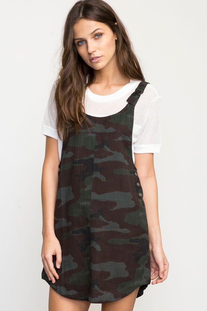 Reflexion Camo Overall Dress Rvca Fashion Clothes Overall Dress [ 1200 x 800 Pixel ]