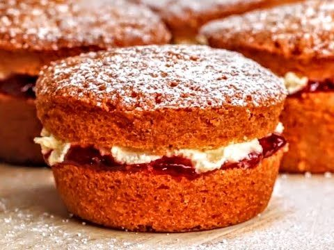 Mini Victoria Sponges - YouTube