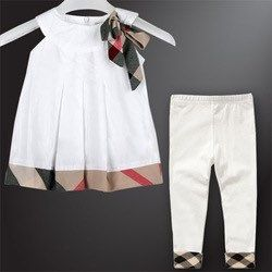 Burberry Inspired Ribbon Dress And Pants Outfit Spring Stripes With