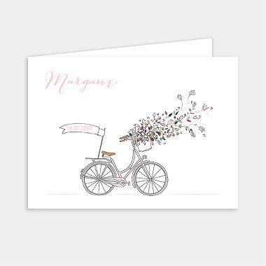 Faire-part de naissance A bicyclette