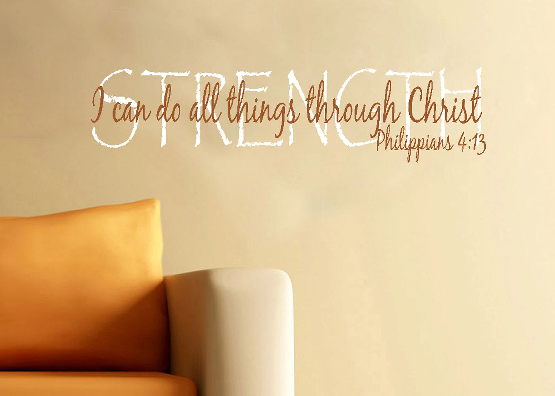 Bible+Verse+Vinyl+Wall+Art | Scripture wall decorVinyl bible verse I ...