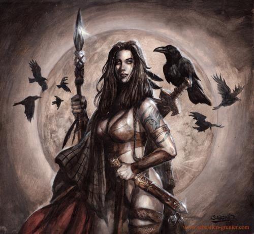 Картинка богини морриган