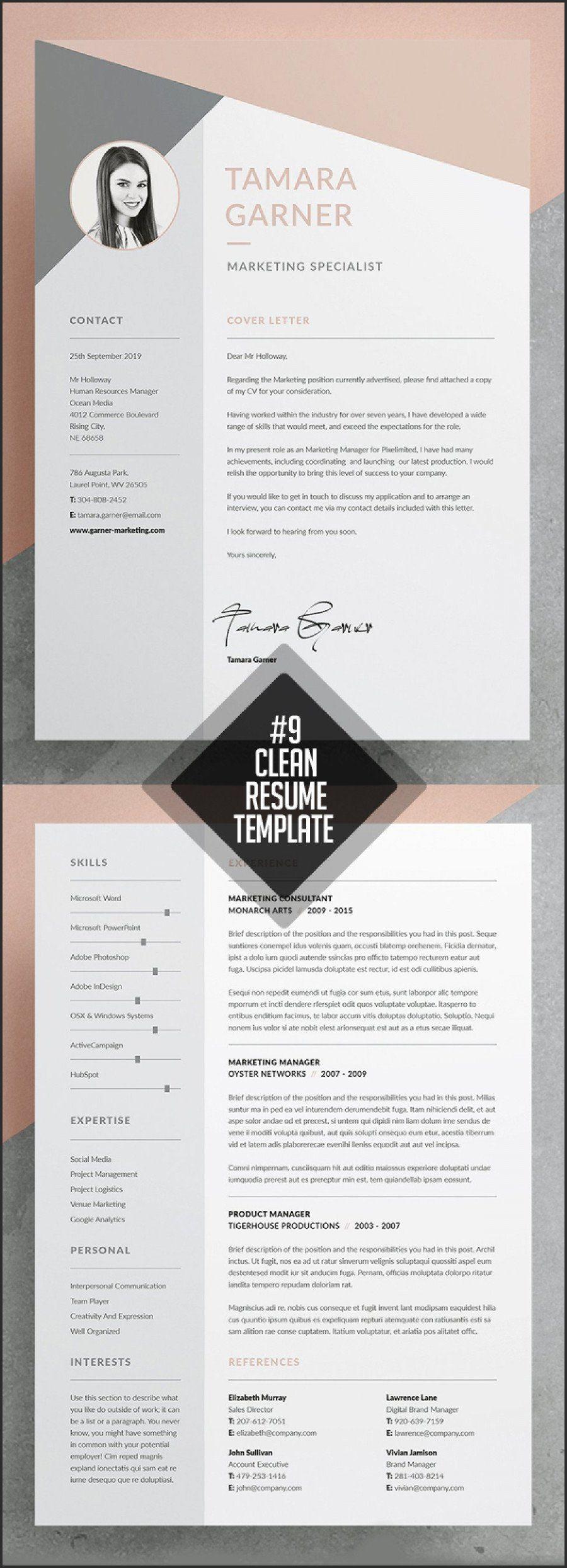 Adobe indesign resume template best of adobe indesign