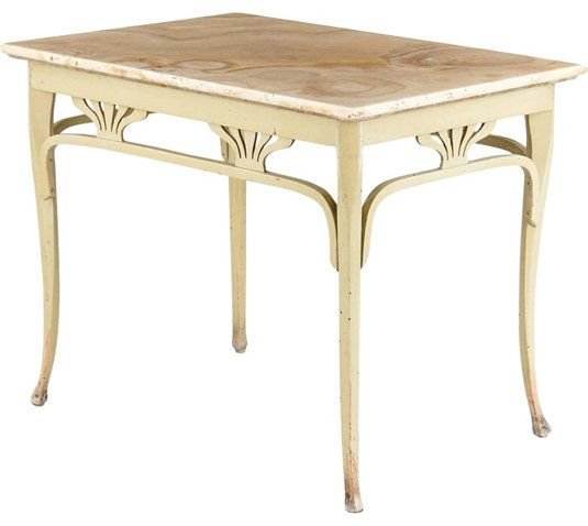 One Kings Lane Vintage Thonet Bentwood Table   C. 1910 | Library Table,  Corner And Lights