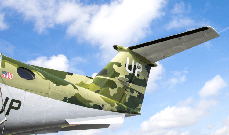 Wheels Up adds camouflage King Air 350i to support