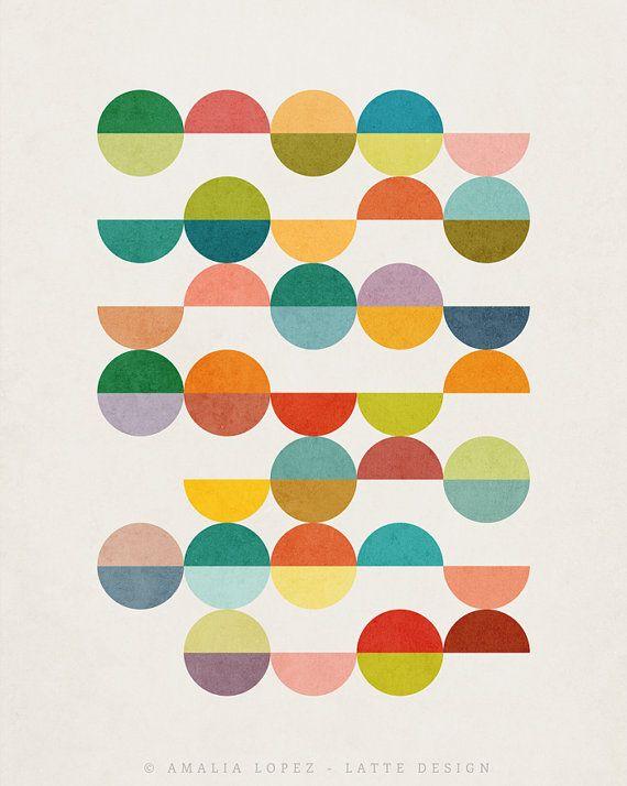 Equal Parts 3 Nordic Design Scandinavian Print Geometric Print Abstract Print Minimalist Art Geometric Art N In 2020 Retro Wall Art Geometric Art Prints Geometric Art