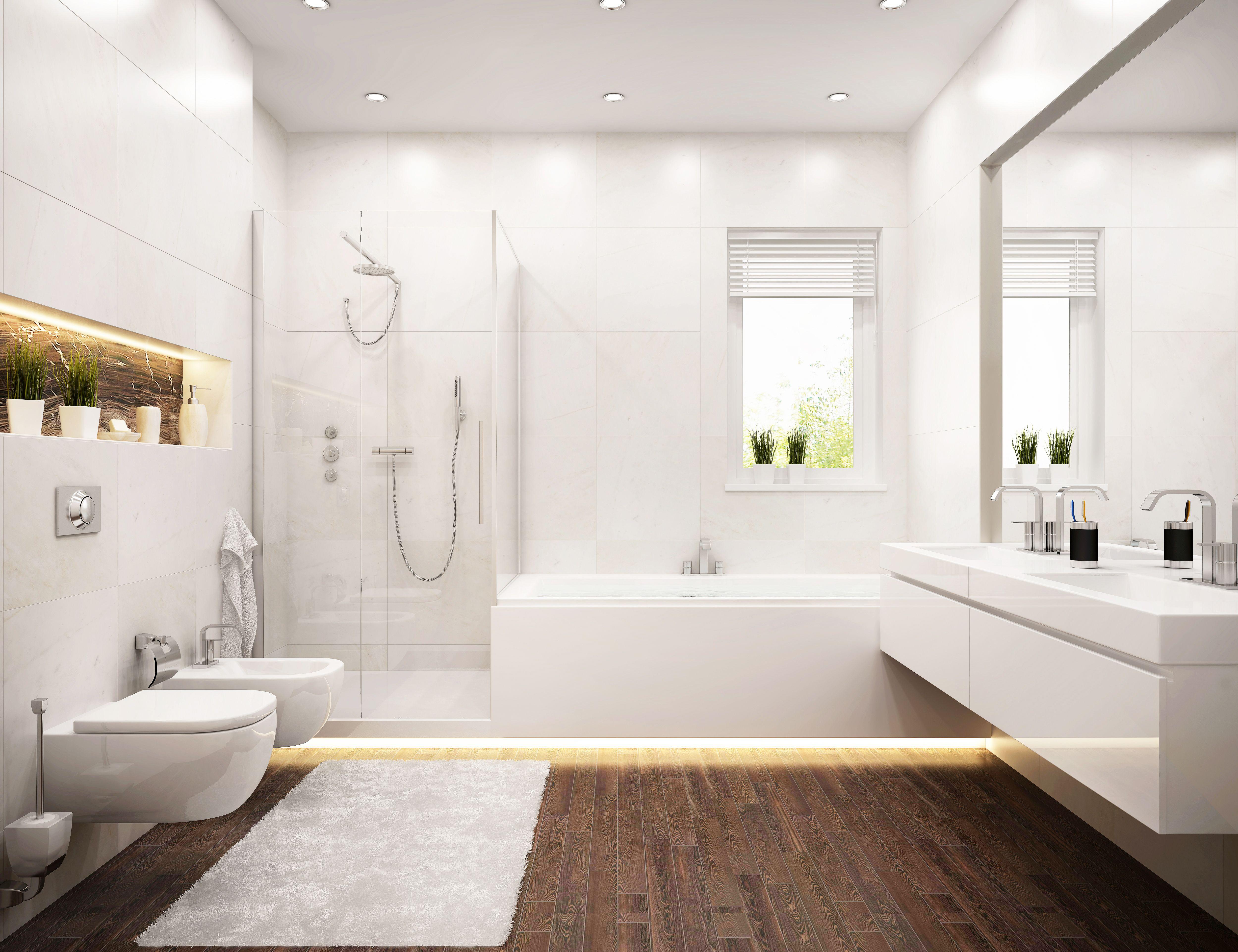 Wer Die Kosten Nicht Scheut Kann Im Zuge Einer Badsanierung Lang Gehegte Modernisierungswunsche Realisieren In 2020 Badezimmer Planen Bad Einrichten Badezimmer