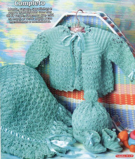 AS RECEITAS DE CROCHÊ: CONJUNTO EM CROCHE PARA BEBE   Crochet ...