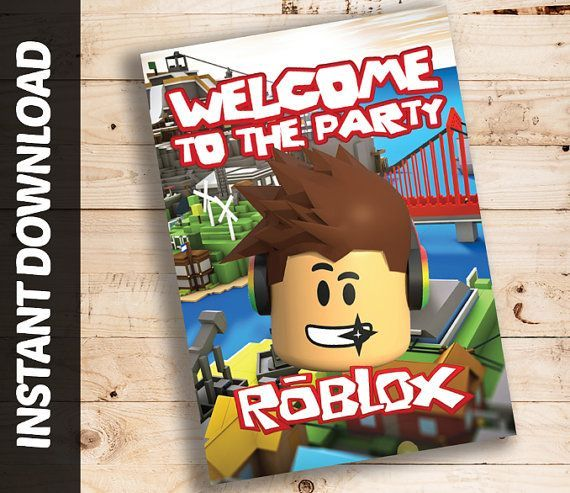 Instant Download Roblox Printable Birthday Welcome Sign